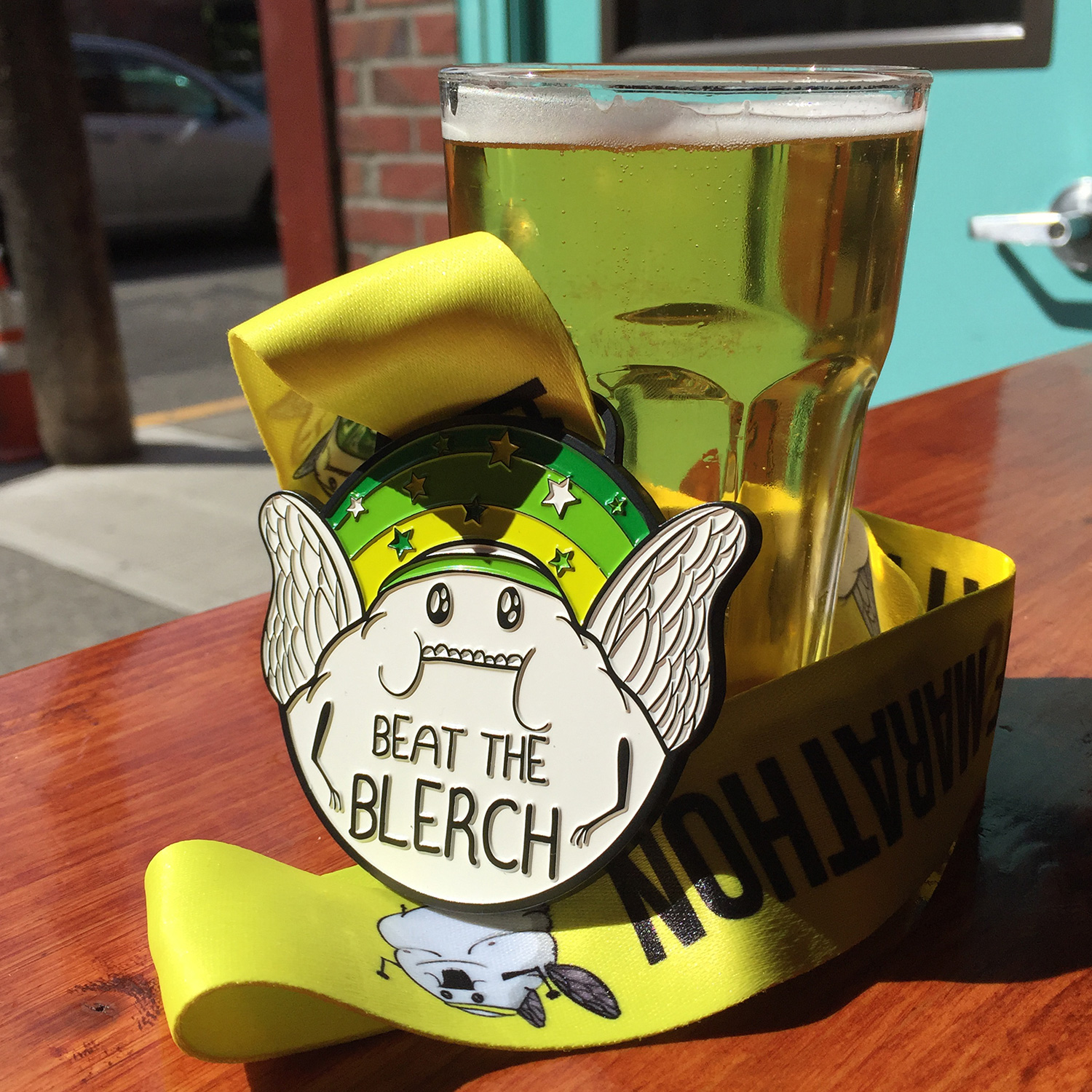 Beat the Blerch half marathon medal
